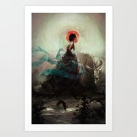witchcraft Art Prints featuring Witchcraft by Camila Vielmond