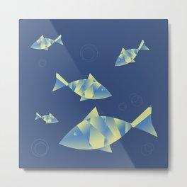 Fish on blues Metal Print