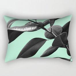 Ficus Elastica Beach Vibes #2 #foliage #decor #art #society6 Rectangular Pillow