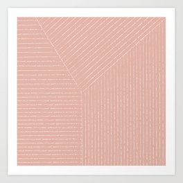 Lines (Blush Pink) Art Print