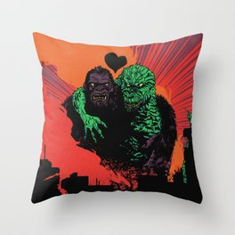 Kaiju Romace Throw Pillow