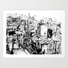 ink city Art Print