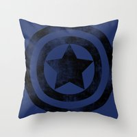 steve rogers Throw Pillows featuring Steve Rogers 008 by TheTreasure