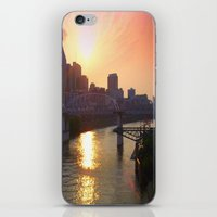 nashville iPhone & iPod Skins featuring Nashville Dusk by Andooga Design