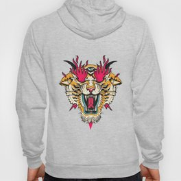 Tiger 3 Eyes Flames Hoody