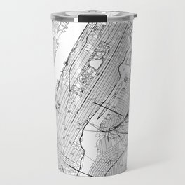 New York City White Map Travel Mug