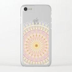 Blush Gold Black Mandala Clear iPhone Case
