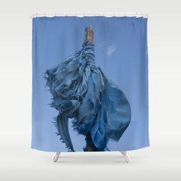 Sacred Blue Shower Curtain