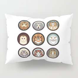 Owls of the Eastern United States Pillow Sham