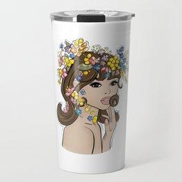 Jean Shrimpton Vogue 1965 Travel Mug