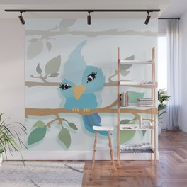 Baby Sparrow Wall Mural