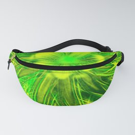 Abstract Lines Green Flower Fanny Pack