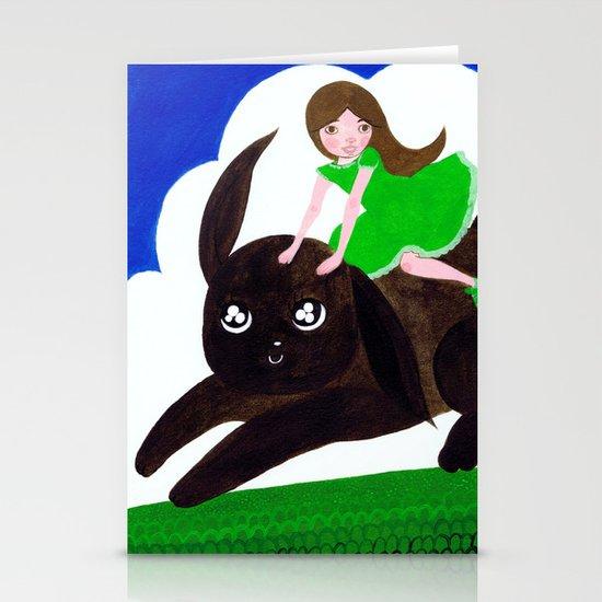 Rabbit Girl Stationery Cards