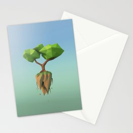 Flying Tree - Lowpoly Stationery Cards