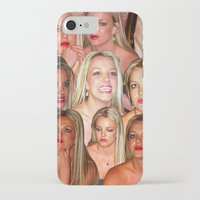 britney iPhone & iPod Cases featuring BRITNEY COLLAGE by plasticdesigns