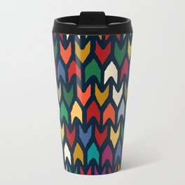 christmas arrows indigo Metal Travel Mug