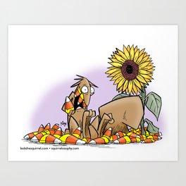 corny squirrel Art Print