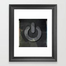 On / Off Framed Art Print