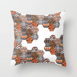 Tribal Collage Throw Pillow