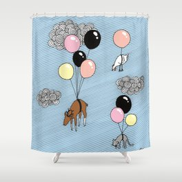 We´re flying Shower Curtain