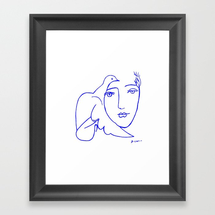 Dove Face by Picasso Gerahmter Kunstdruck