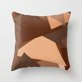 Chocolate Caramels Triangles Throw Pillow