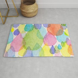 Colourful Raindrops Rug