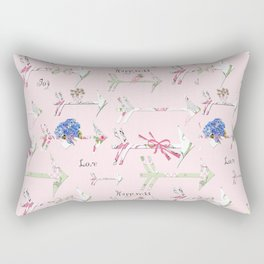 Happiness is a bouquet of shabby chic Rectangular Pillow