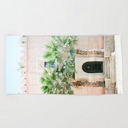 "Travel photography print ""Magical Marrakech"" photo art made in Morocco. Pastel colored. Beach Towel"