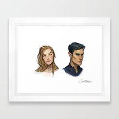 Rhys & Feyre Framed Art Print
