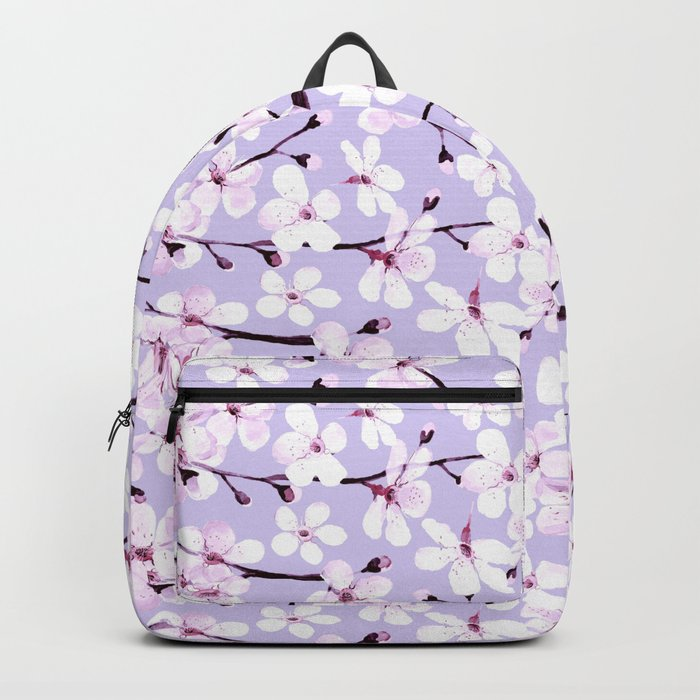 Cherry Blossom on lavender grey Backpack