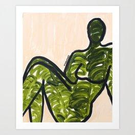 Leaf Figure Art Print