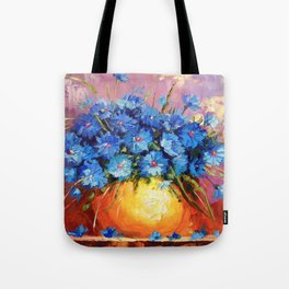 Bouquet of CORNFLOWERS Tote Bag