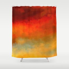 The Colors of Sunset Digital Painting Shower Curtain