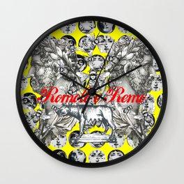 Romolo E Remo Wall Clock