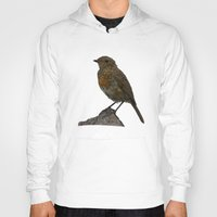 birdy Hoodies featuring Birdy by Robin Graham