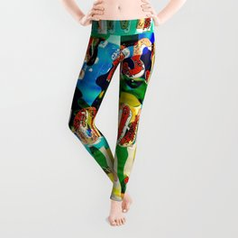 Girl from the Beach – Decollage 2 – A Hell Songbook Edition Leggings