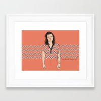 coconutwishes Framed Art Prints featuring Harry Chevron  by Coconut Wishes