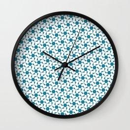 Damascus Motif Blue Palette Wall Clock