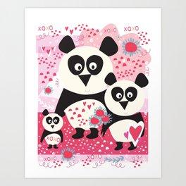 Panda Valentine Art Print