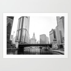 Chicago Riverwalk - Wasbash Avenue  Art Print