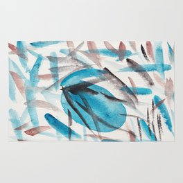 4  | Watercolor Patterns Abstract 181214 Rug