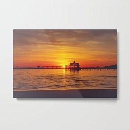 Orange Glow Sunset Metal Print
