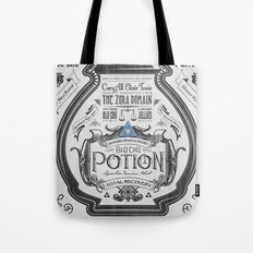 Legend of Zelda Blue Chu Potion Advertisement Tote Bag