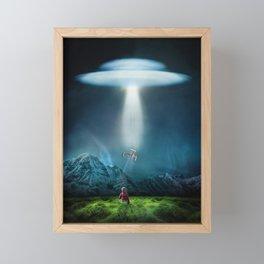 Boy's UFO Encounter Framed Mini Art Print