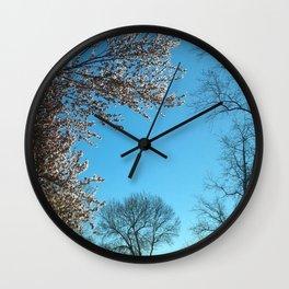Spring Morning Sky Wall Clock