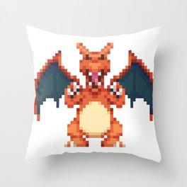 Char Dragon Throw Pillow