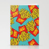 moschino Stationery Cards featuring Would You Like Fries With That? Teal by Season of Victory