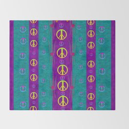 Peace be with us in this wonderful year in true love Throw Blanket