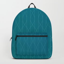 Wave pattern in teal Backpack